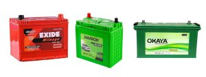 Battery Selling and Service, Exide Battery, Amron Battery,Okaya Battery, low cost battery cars in india